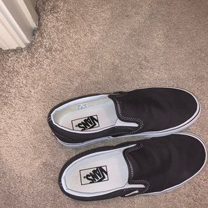 Grey slip on vans